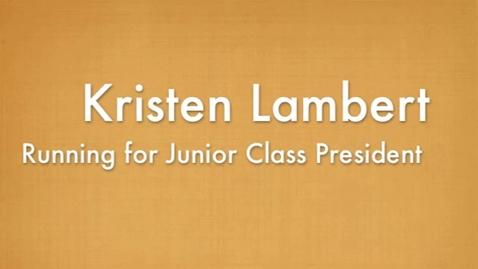 Thumbnail for entry 11th Pres. Kristen