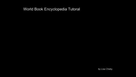 Thumbnail for entry World Book Basics