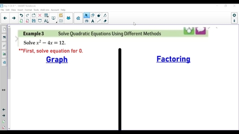 Thumbnail for entry Review of Quadratics- Video 1
