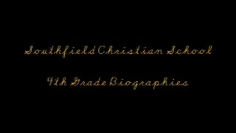 Thumbnail for entry Biographies 2009 - Episode 4