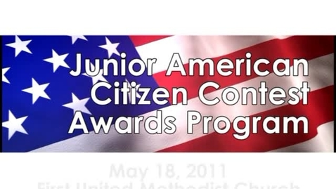 Thumbnail for entry Junior American Citizens Contest Awards Program