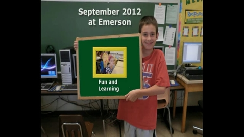 Thumbnail for entry September 2012 at Emerson Elementary School