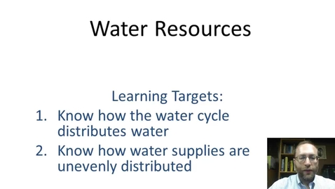 Thumbnail for entry Water Resources
