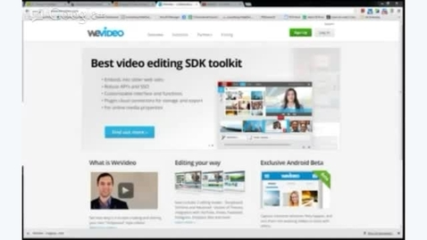 Thumbnail for entry WeVideo - Basic Tools