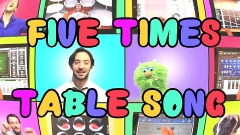 Thumbnail for entry Five Times Table Song (We Can't Stop by Miley Cyrus) Using iPads Only