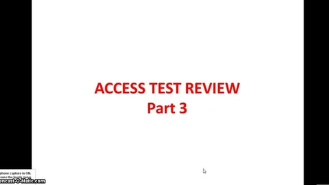Thumbnail for entry ACCESS TEST Part 3 Hands On