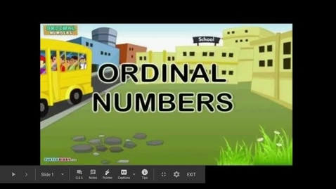 Thumbnail for entry Ordinal Numbers 11th-31st