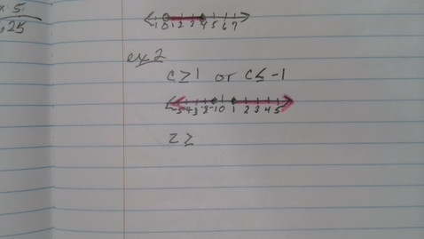 Thumbnail for entry Compound Inequalities part 2