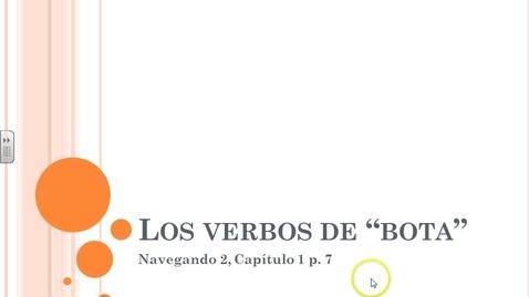 Thumbnail for entry Navegando 2.1A Los Verbos de Bota