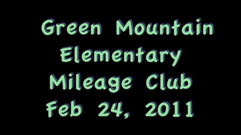 Thumbnail for entry Mileage Club Feb 24, 2011
