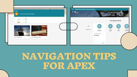 Thumbnail for entry Navigation Tips For Apex