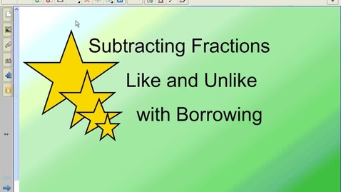 Thumbnail for entry Subtracting Fractions