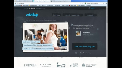 Thumbnail for entry Edublogs - modifying settings for posts and comments