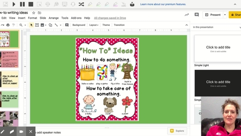 Thumbnail for entry How-to writing ideas from Mrs. Adams for 4_29_20 - Google Slides