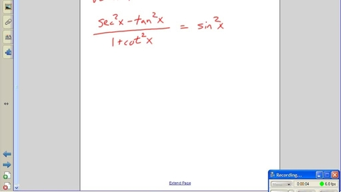 Thumbnail for entry Verify Trig Identities  Examples -- Juda math