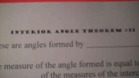 Thumbnail for entry Center 12 Interior Angle Theorem