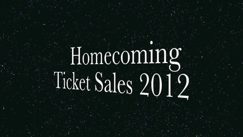 Thumbnail for entry Homecoming Tickets
