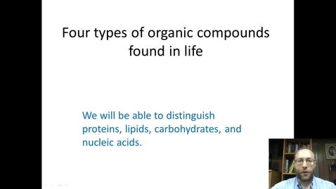 Thumbnail for entry Life's four organic compounds