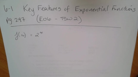 Thumbnail for entry Adv Mth BD E06 - TSW 2 Expontial Functions (part 1)