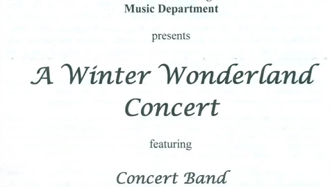 Thumbnail for entry GIHS Presents A Winter Wonderland Concert 12-7-2016