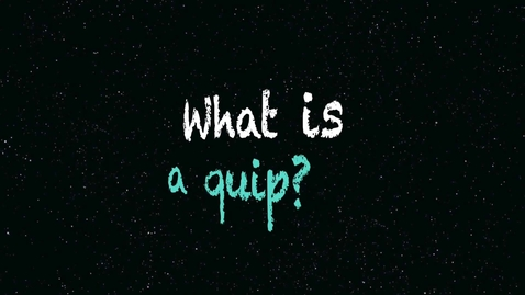 "Thumbnail for entry WordCast 2016: ""Quip"""