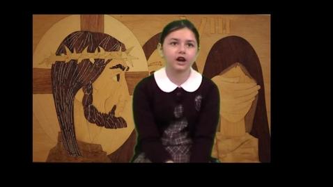 Thumbnail for entry Student reciting Gospel reading for 3/15/2015.
