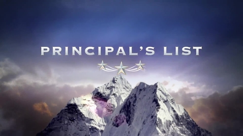 Thumbnail for entry Principal's List Presents Principal Appreciation Month Project