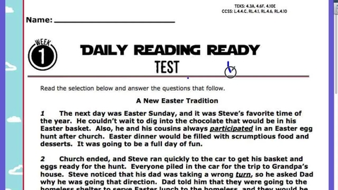 Thumbnail for entry Reading Test 3:12
