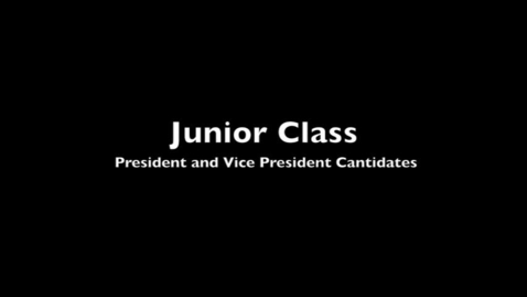 Thumbnail for entry VCHS Junior Candidates 2012