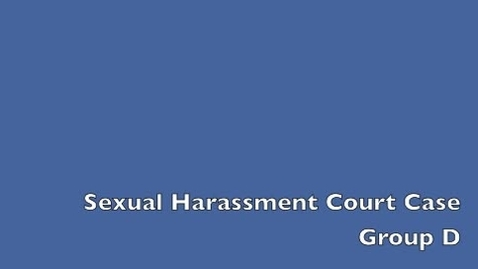 Thumbnail for entry Sexual Harassment Court Case