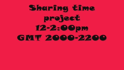 Thumbnail for entry Sharing Time 2011-12: GMT 2000-2200