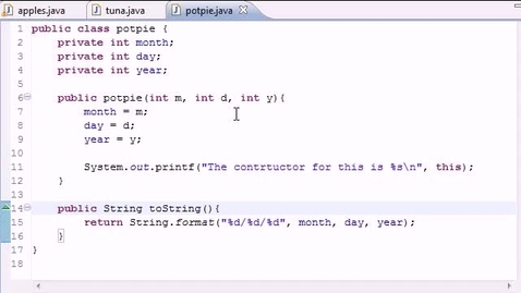 Thumbnail for entry Java Programming Tutorial - 43 - Composition