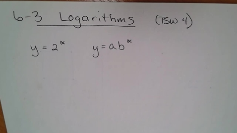 Thumbnail for entry Adv Mth BD E06 (TSW 4) Logarithms