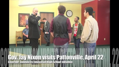 Thumbnail for entry Governor Jay Nixon visits Pattonville High School