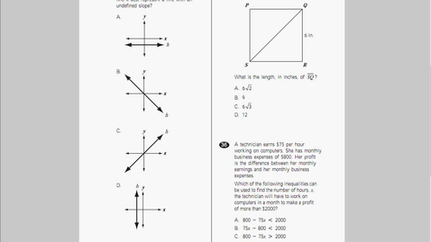 Thumbnail for entry MCAS Math 2010 page16