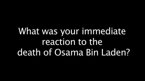 Thumbnail for entry Osama Bin Laden Death Reactions