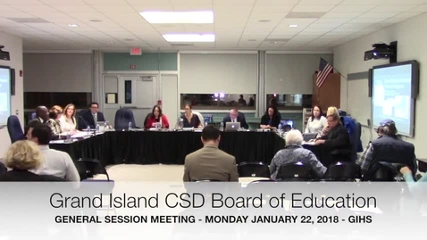 Thumbnail for entry GICSD Board of Education 1-22-2018 Meeting