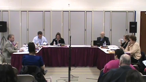 Thumbnail for entry BOE Meeting, 3/17/14 - Part 3