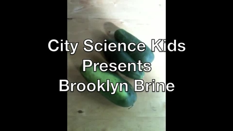 Thumbnail for entry City Science Kids Presents: The Brooklyn Brine Pickle Factory