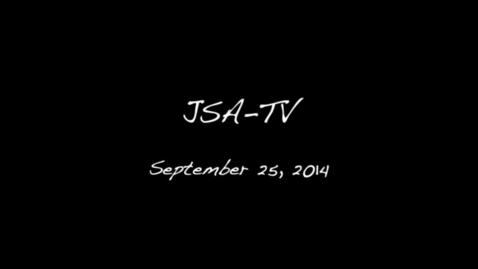 Thumbnail for entry JSATV - September 25, 2014