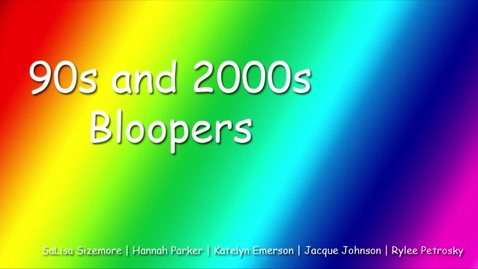 Thumbnail for entry '90s Dance Bloopers - WSCN PTV 2, Sem 2 (2016-2017)