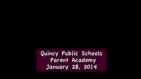 Thumbnail for entry Parent Academy January 28, 2014 part 1( Aspen Student Portal)