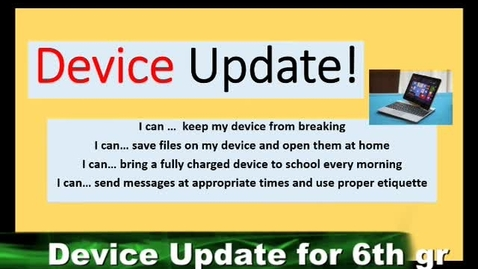 Thumbnail for entry Device update - instructions for student use of HP revolves