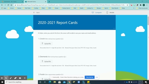 Thumbnail for entry How to Upload Report Cards to a Microsoft Form