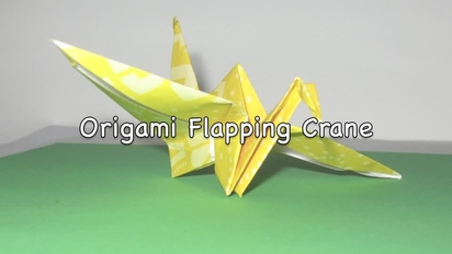 How To Make an Origami Flapping Bird - YouTube | 232x412
