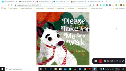 Thumbnail for entry Please Take me for a Walk - Read Aloud - T. Tom