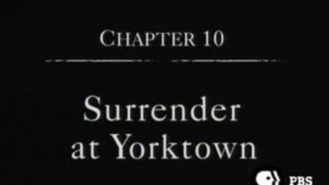 Thumbnail for entry Surrender at Yorktown