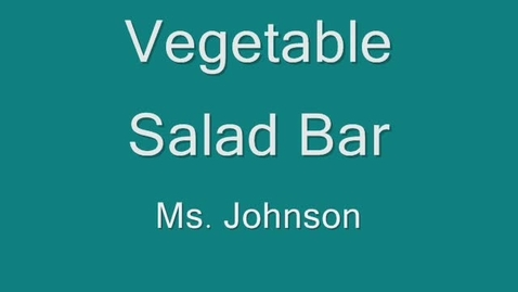 Thumbnail for entry How to make a Salad Bar