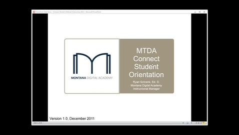 Thumbnail for entry MTDA Connect Credit Recovery Student Orientation