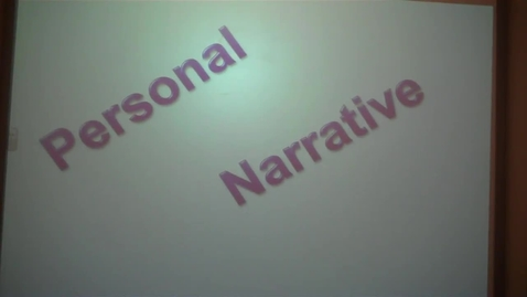Thumbnail for entry Personal Narrative